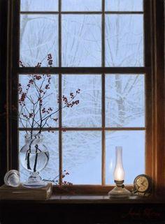 Alexander Volkov (Russian/ American, born 1960)  'Winter Window'