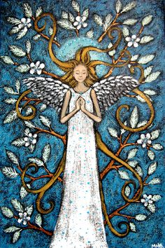 Angel of Peace by Margaret Blanchett D N Angel, Peace Painting, Angel Theme, Angel Guide, Angel Drawing, Kobold, I Believe In Angels, Angels Among Us, Angel Cards
