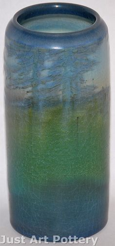 Rookwood Pottery 1914 Scenic Vase (Shape 952)(Coyne) from Just Art Pottery