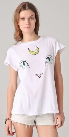 cat and moon tee by wildfox.  reminds me of sailor moon!