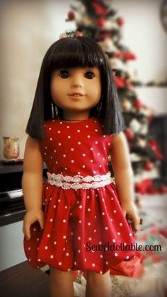Christmas patterns for 18 inch dolls | ... used only 1 3 yard of woven calico fabric 44 inch wide and a roll of