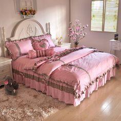 Pastoral princess style Bedding Sets bedding Korea bed skirt denim netrose - ZZKKO http://zzkko.com/n4062 $ 54.06
