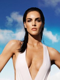 American beauty Hilary Rhoda stuns in the May beauty issue of Madame le Figaro. The brunette model poses for Nico's lens in some of the season's hottest swimwear.
