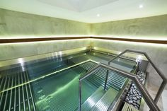 Two sides of whirlpool Imaginox with different hydrotherapy Spa, Stairs, Stainless Steel, Home Decor, Luxury Pools, Stairway, Decoration Home, Room Decor, Staircases