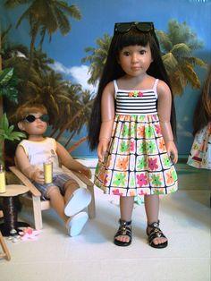 "Fashion for 18"" Slim Dolls Kidz 'n' Cats,Magic Attic Sun Dress (2) by Brigitte"