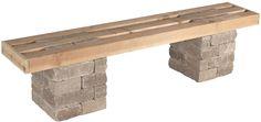 Pavestone Rumblestone™ Bench No. 1 Instructions #diy