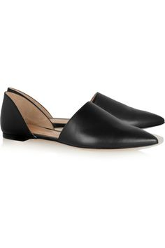 Leather point-toe flatsby Gianvito Rossi