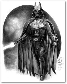 Bat-Vader! I want to make this costume..