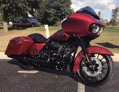The all new 2018 Road Glide Special feature in Wicked Red #harleydavidson2018
