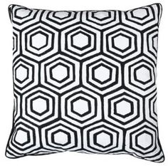 Rombe Cushion Cover now featured on Fab. Black Cushions, Stencils, Throw Pillows, Black And White, Cover, Kitchen Backsplash, Design, House, Toss Pillows