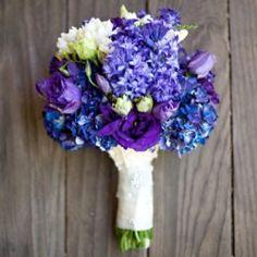 Wedding colors....Dark purple, light purple and blue