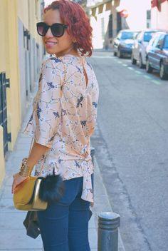 Look casual con blusa estampada #gabbysweetstyle