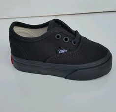 8bb853f83f0 Vans Authentic Black Black Canvas Infant Toddler Baby Boy Girl Shoes Size  4-10 Infant