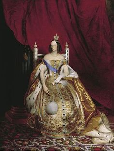 Empress Alexandra Feodorovna of Russia, née Princess Charlotte of Prussia in traditional Russian court gown