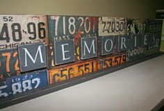 License plate Art - ive moved so many times, ive been looking for a way to display my many states' plates