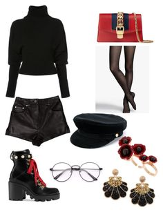 """Untitled #153"" by denisapurple on Polyvore featuring Gucci, Thomas Wylde, Express, Creatures of the Wind, Manokhi and Futuro Remoto"