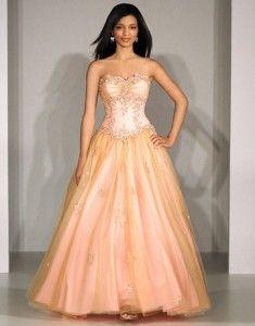 peach colored prom dress | Peach,Coral,&Cinnabar***! | Pinterest ...