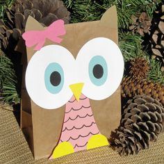 Hoot Owl Treat Sacks - Woodland Forest Bird Theme Birthday Party Goody Bags by jettabees on Etsy