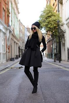 all black outfit that is anything but basic #womens #fashion