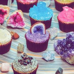 Crystal cupcakes