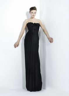 Classic black bridesmaids gown. Zuhair Murad - Ready-to-Wear - Fall-winter 2011-2012