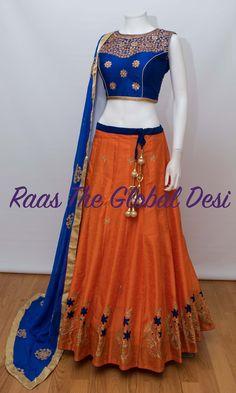 Shop Chaniya choli - handmade chaniya choli , ghaghra choli at afordable price Half Saree Designs, Choli Designs, Lehenga Designs, Blouse Designs, Lehnga Dress, Lehenga Gown, Party Wear Lehenga, Indian Designer Outfits, Indian Outfits