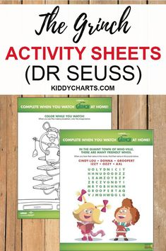 Who doesn't love Dr Seuss and The Grinch? We're happy to present you two free The Grinch activity sheets that both you and your kids will absolutely love. Grab it soon!