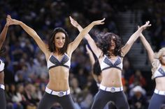 Nov 15, 2014; Oakland, CA, USA; Cheerleaders from the Golden State Warriors dance team perform during a timeout against the Charlotte Hornets in the second ...