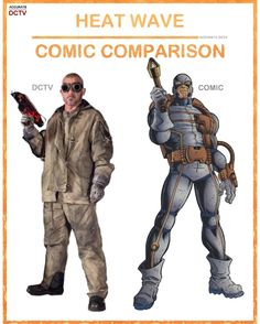 """51 Likes, 3 Comments - • Accurate.DCTV • dctv fanpage (@accurate.dctv) on Instagram: """"• Heat Wave - Comic Comparison • Heat Wave isn't one of my favorite villains or characters on Flash…"""""""
