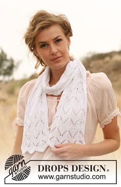 "DROPS 127-9 - Knitted DROPS scarf in ""Muskat"". - Free pattern by DROPS Design"