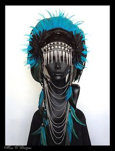 MADE TO ORDER Large  Warrior Headdress by MissGDesignsShop on Etsy, $425.00
