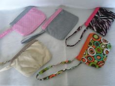 These wristlets are perfect when you don't want to carry a large purse.