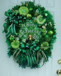 St Patrick's Day wreath XXL Door wreath by WreathsbyKimberly