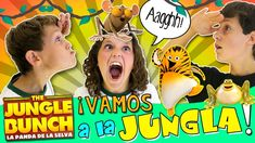 🐯 The JUNGLE BUNCH y la PANDA de YOUTUBERS! 🐯 Viaje Express a Madrid al ...