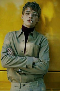 themenissue: Photo Fanny Latour Lambert Styling Luca Roscini Model Billy Vandendooren for Style Magazine Italia youth, rebel, aesthetic Beautiful Boys, Pretty Boys, Cute Boys, Beautiful People, Foto Portrait, Portrait Photography, Fashion Photography, Men Portrait, Photography Ideas