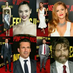 #GalGadot (in #DolceAndGabbana), #IslaFisher, #JonHamm and #ZachGalifianakis  at the premiere of the #KeepingUpWithTheJoneses on Saturday evening in L.A. • • • • • • • • • • • • • • • • • • • • • • • • • • • • • • • • • • • #GalGadot (de #DolceAndGabbana), #IslaFisher, #JonHamm e #ZachGalifianakis na premiere de #KeepingUpWithTheJoneses no sábado à noite em L.A.