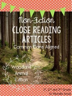 (FREEBIE) 4 woodland animal close reading passages with graphic organizers and evidence-based comprehension sheets to go with each!