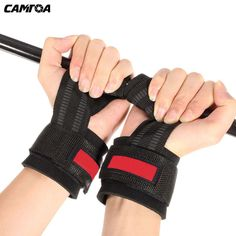 1 Pair Fitness Weight Lifting Hand Bar Grips Straps Gloves Wrist Support Belt Gym Training Wraps For Body Building