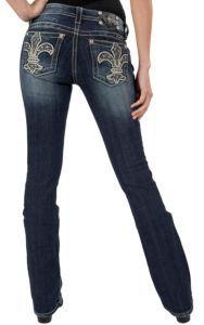 Miss Me® Women's Dark Wash Medieval Fleur De Lis Boot Cut Jean | Cavender's