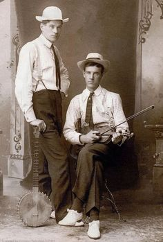 A very early shot of Steve Martin (shown right) before he swapped the fiddle for the Banjo and became the 'Wild and Crazy Guy'