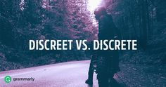 Discreet and discrete are homophones. They sound the same but they have different definitions. Discreet means careful or intentionally unobtrusive. Discrete means distinct or unconnected. English Idioms, English Phrases, Improve Your English, Learn English, Creative Teaching, Creative Writing, Study Tips For Students, Commonly Confused Words, Grammatically Correct