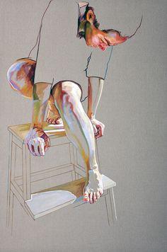 "Saatchi Art Artist: Cristina Troufa; Acrylic 2011 Painting """"Pedestal"" - SOLD"""