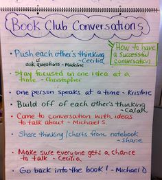 Book Club Brainstorm - how to have a successful conversation