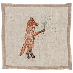 Coral and Tusk - fox with sparkler cocktail napkins