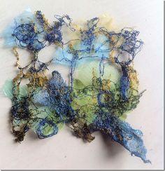 Machine lace sample