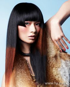 Black and brown dip-dye    Hairstyle by: Leonardo Rizzo  Hairstyle picture by: Peter Gehrke  Salon: Sanrizz  Location: London