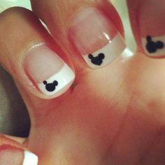 Subtle Disney nails #french #disney #mickey #nails
