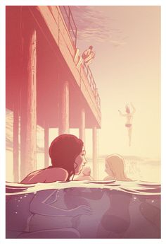 The Pier by Guy Shield. Environment design inspiration for book cover.