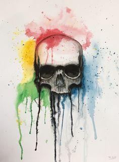 Airbrush/Aquarell Airbrush, Watercolor Tattoo, Tattoos, Sketches, Art, Watercolor, Air Brush Machine, Art Background, Kunst