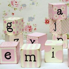 DIY letter or number blocks - you can get the letter templtes from the Martha Stewart site ;)